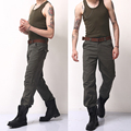 2016 новая мода мужчин брюки высокое качество хлопок мужские брюки-карго армия военная тактическая брюки плюс размер 30-44