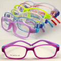 wholesales lot 616 kid classic candy color bendable TR90 removeable  silicone hinge oval optical glass frames free shipping