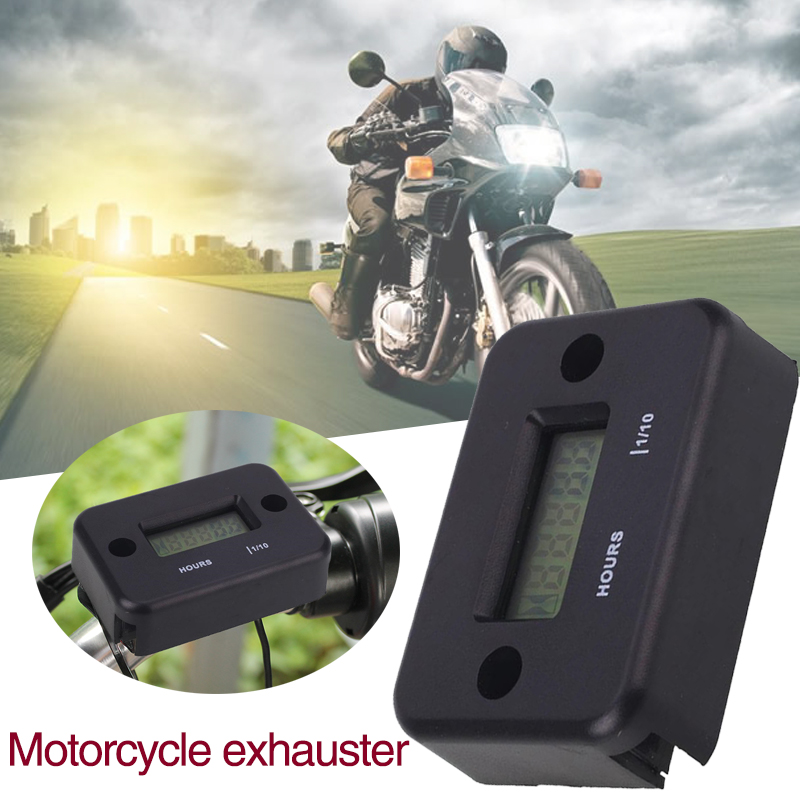 3V Plastic Motorcycle Speed Timer LCD Screen Electronic Durable Safe Practical Gauge Hour Meter Gadget 95cm