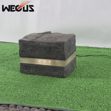 Frp  Lawn stone Lamps Waterproof Creative Decorative Modern Stone Style Yard Path Garden Outdoor Landscaped