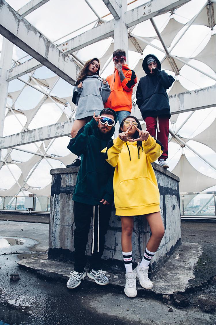 Aolamegs Hoodies Men Side Striped Hood High Street Pullover Cotton Fashion Hip Hop Streetwear Casual Big Pocket Hoodie Autumn (3)
