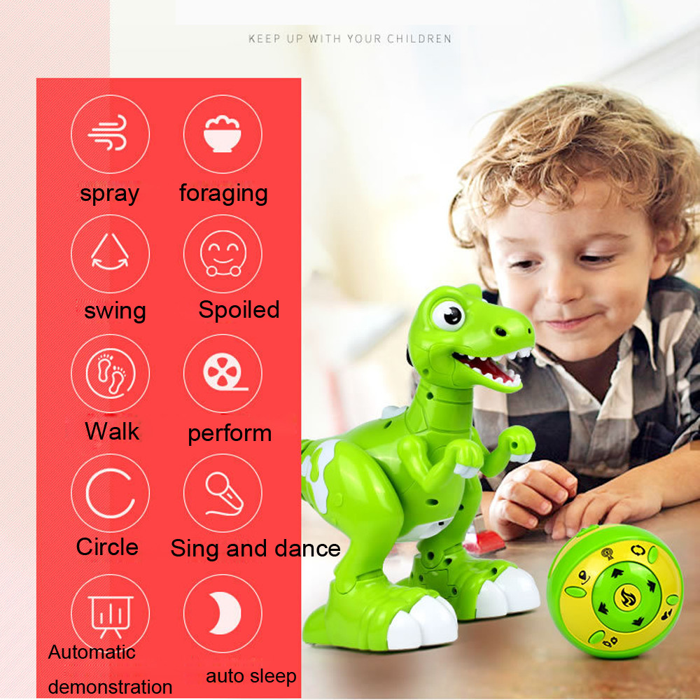 HIINST interactif RC dinosaure télécommande sans fil adapté et sûr pour les enfants jouent jouet drôle JAN20