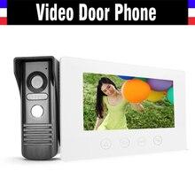 7″ Touch Video Intercom Door Phone Doorbell System Video Camera Intercoms Entry Access Control Home Security Kits Door bell