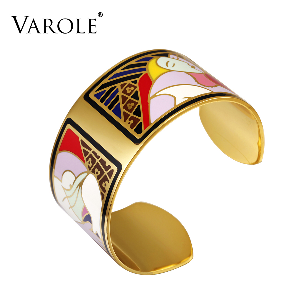 VAROLE Fashion Enamel Opening Bracelets&Bangles for Women Colorful Bracelet Cuff Love Pulseiras Feminina Gifts Pulsera new laptop cpu cooling fan for samsung dp700a3b 23 aio ba31 00119a