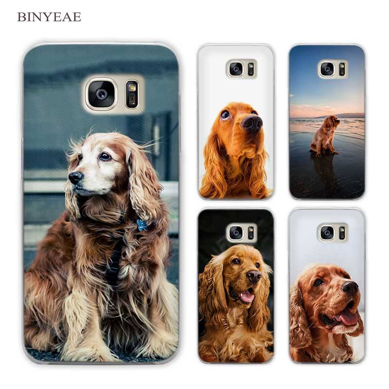 3354d7c84c9 Detail Feedback Questions about BINYEAE English Cocker Spaniel dog art  Clear Phone Case Cover for Samsung Galaxy S3 S4 S5 Mini S6 S7 S8 Edge Plus  on ...