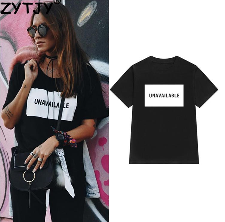 Unavailable Letters Print Women Tshirt Cotton Casual Funny T Shirt For Lady Top Tee Hipster Tumblr Drop Ship Z-977