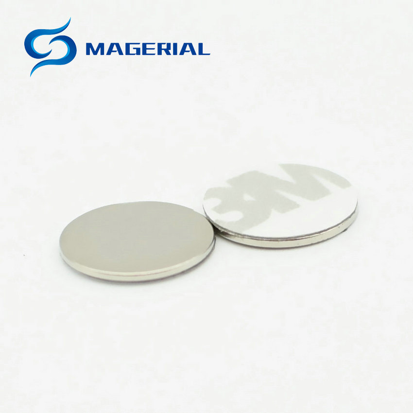 NdFeB Magnet Thin Disc with 3M Adhesive Glue Dia. 12x1 mm Strong Neodymium Magnet Rare Earth Permanent Lab Magnets 200-5000PCS 4pcs ndfeb magnetic disc dia 20x30 mm 0 79 cylinder n38 strong neodymium magnets rare earth permanent lab magnets sensor