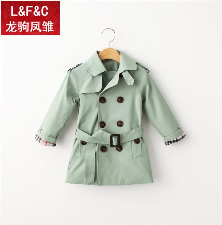 614e1b191 Kids girls boys trench coat children coat 2015 autumn Belt outwear ...