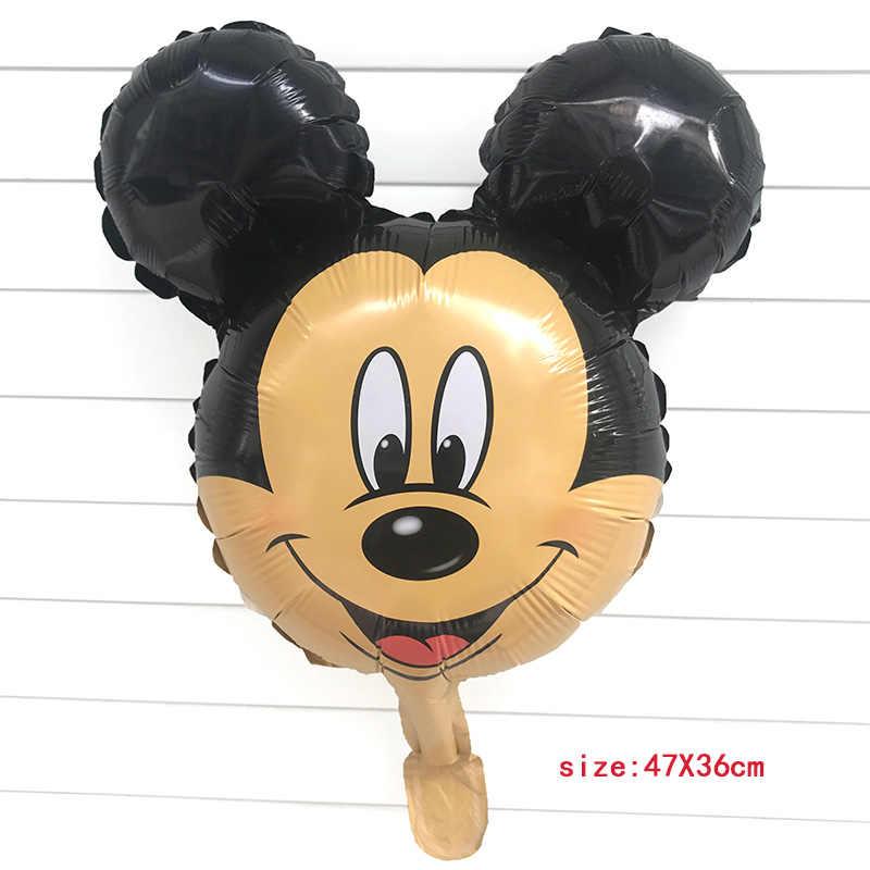 50 ชิ้น Mini Mickey Minnie Mouse ฟอยล์บอลลูนเด็กวันเกิดตกแต่งเด็กทารกอุปกรณ์ Inflatable บอลลูน