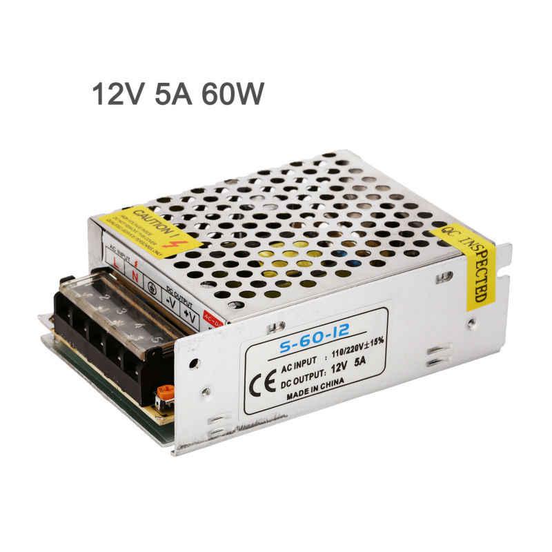 Светодиодный драйвер 12В импульсный источник Питание адаптер трансформатор 24 Вт 60 Вт 120 Вт 360 Вт Алюминий для Светодиодные ленты Светодиодная лента линхтинг.