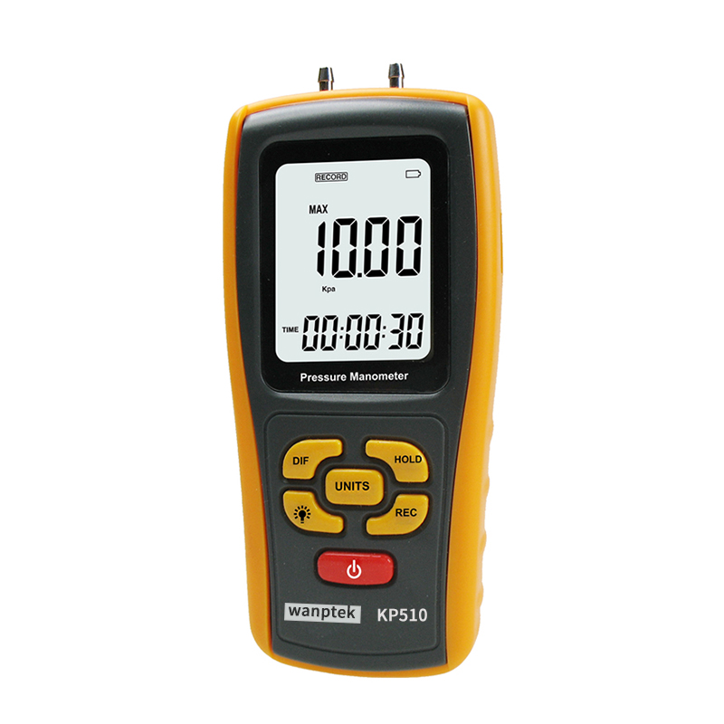 Handheld Digital Pressure Meter Manometer +/- 10kPa Pressure Gauge Tester USB Manometro portable digital lcd display pressure manometer gm510 50kpa pressure differential manometer pressure gauge