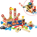 Engineering screw assembly toy wooden math toys for children mathematics toy kids baby montessori Educational toy for baby