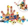 Ingeniería conjunto de tornillo juguete matemáticas juguetes de madera para niños matemáticas los niños de juguete de bebé juguete educativo montessori para el bebé