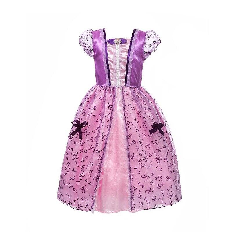 MUABABY Meisjes Rapunzel aankleden Kinderen Sneeuwwitje Prinses - Kinderkleding - Foto 5