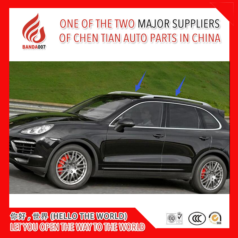 Silver or black color Aluminium alloy sticker install side rail bar roof rack for Cayenne 2011