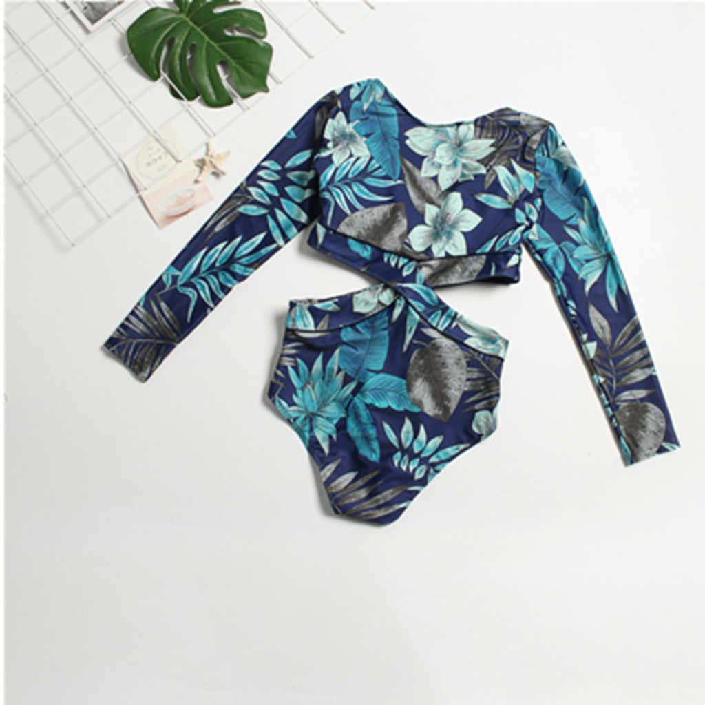 Wanita Pantai Ruam Penjaga Baju Renang Set UV Perlindungan Surfing Baju Renang Ladies'surfing Pakaian Fashion Baru 2019 Hot Surfing A30419