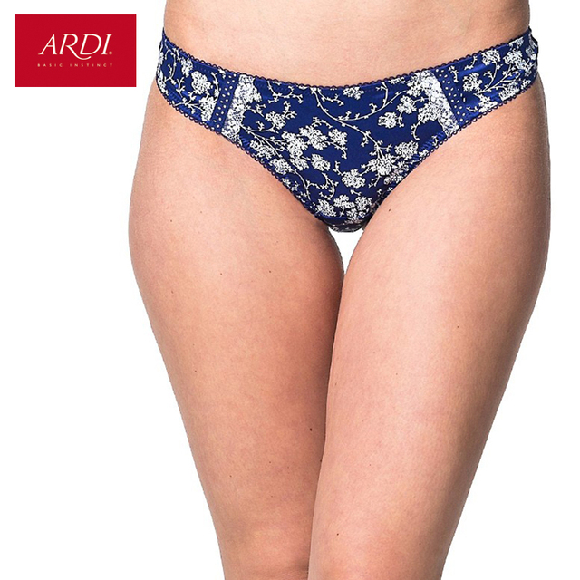 4d56725e5e58 Woman's G-String Satin Floral Printing White with Black Blue with  WhiteCotton Large Size S M L ARDI Free Delivery S2021-20