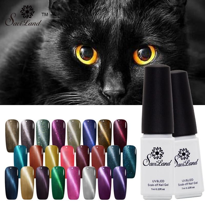 Saviland алмазные Цвета Магнит кошачьи глаза Гель-лак УФ-лак для ногтей Гель-лак для ногтей долговечный гель Vernis Lak