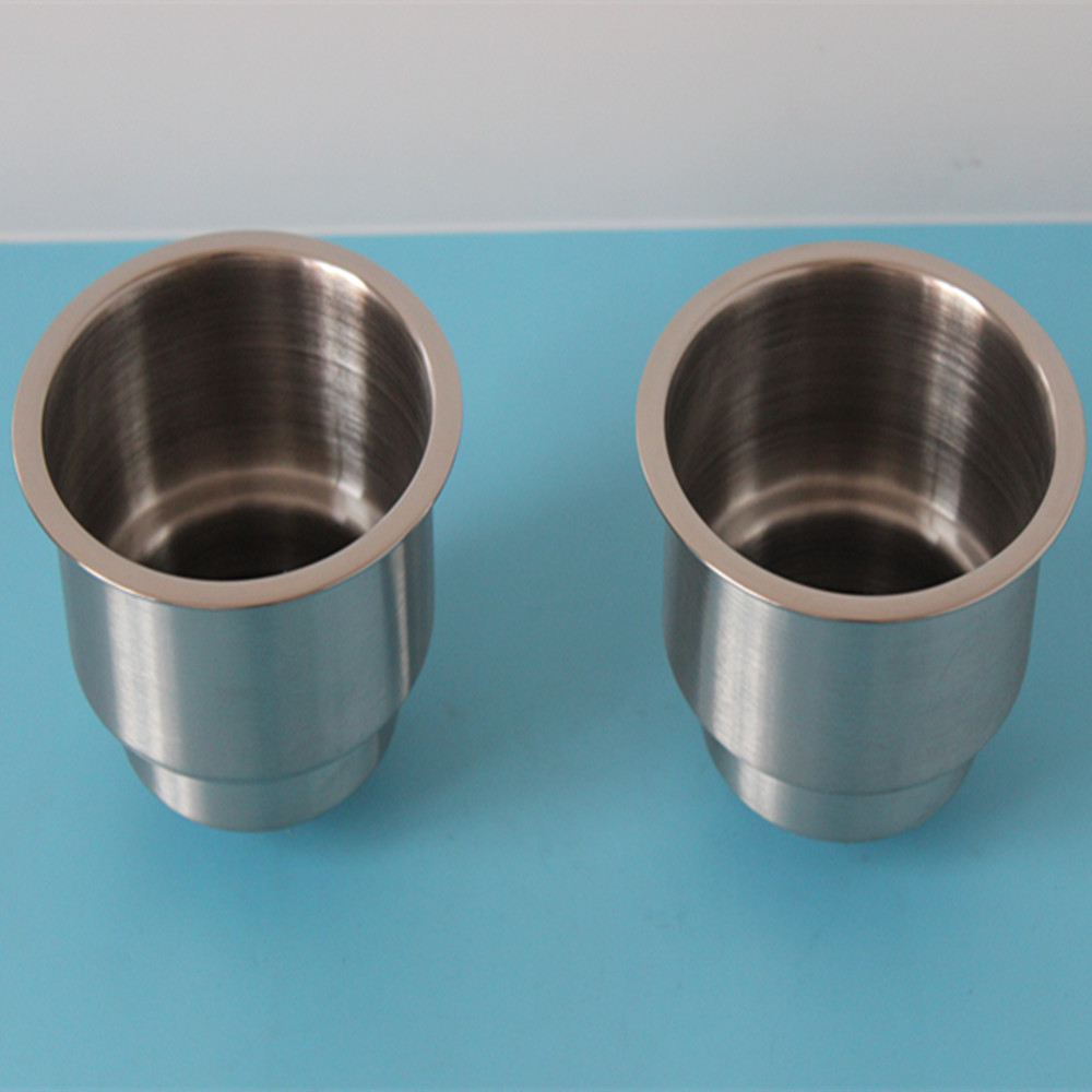 A Pair  Cup Holder Stainless Steel Mount Cup Drink Holder For Boat Car RV Camping