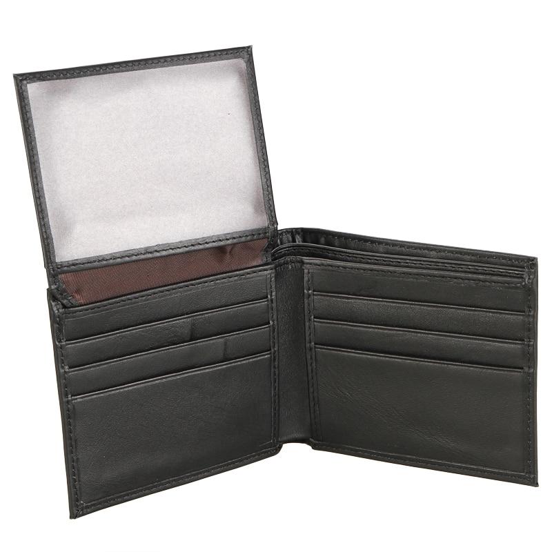 Brand New Men/'s Genuine Leather Black Flap Credit Card ID Holder Bifold Wallet