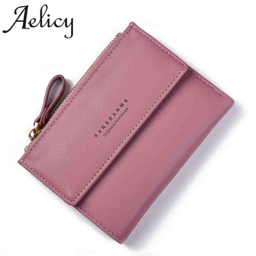 Aelicy Fashion Women Leather Zipper Wallet Lady Portable Multifunction Short Solid Women Leather Wallet Clutch Purse Lady Short fashion elegant women long leather wallet portable multifunction solid color purse hot female change purse lady clutch carteras