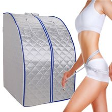 Portable Far Infrared Sauna Slimming  Negative Ion Detox Therapy Personal Room Folding Chair Cabin room bath