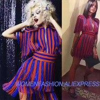 Летнее платье 2018 flaming платья для женщин пикантные Вечеринка платья потрясающий полосатый новинки кисточкой vestido de festa платье