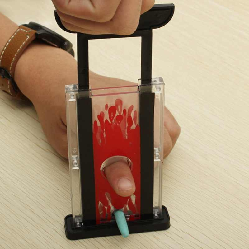 אבזרי קסם טריקים צעצוע ילדים אצבע חותך גיליוטינה ופר קסם אצבע חציר חותך כלי קסם טריק קסם אספקת צעצוע