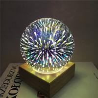 Lamparas De Mesa Table Lamps For Living Room Fancy Magic Glass Decorative Lamp 3d Light Usb Colorful Led Desk Lamps