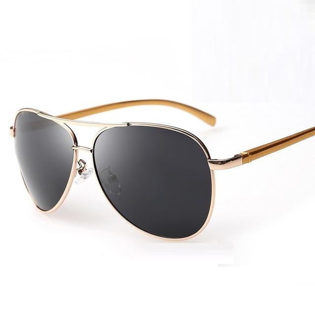 075fbba4ae Cubojue Mens Sunglasses Polarized Women Aviation Driving Fishing Sun Glasses  for Man Anti Polar Cheap Frog Black Lens