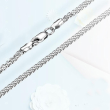 New Arrival Solid AU750 White Gold Wheat Chain Necklace Heavy Gold