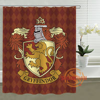 Harry Potter Hogwarts Shower Curtain Personalized Custom Bath Curtain Waterproof Polyester Curtain For Family