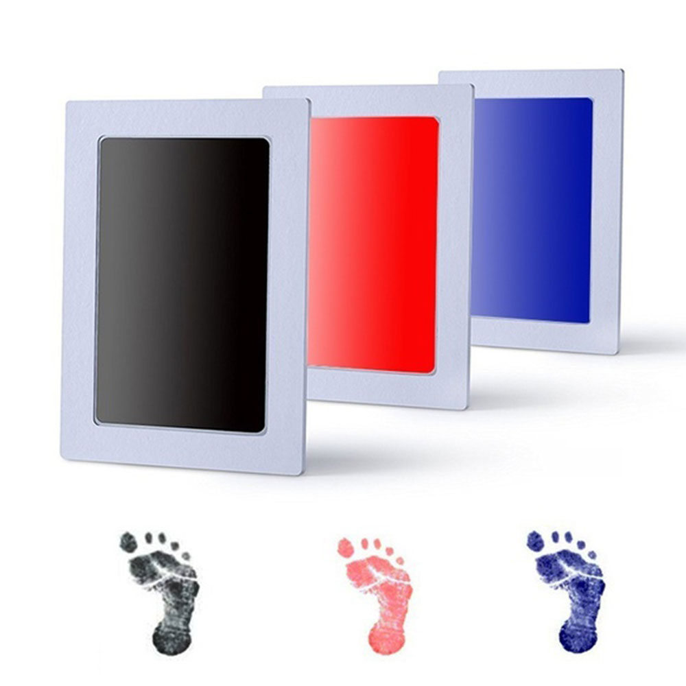 Taoqueen Baby Handprint Footprint Non-Toxic Newborn Imprint Hand Inkpad Watermark Infant Souvenirs  Footprint Ink Pad