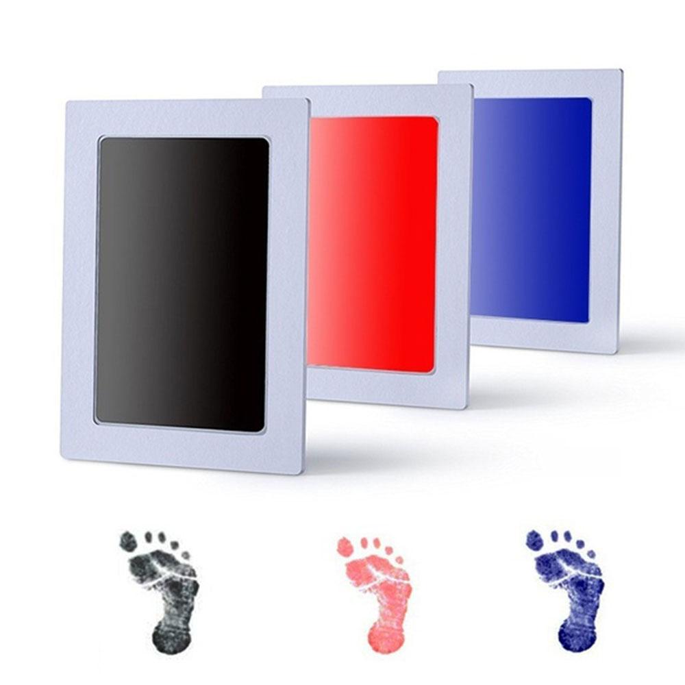 Taoqueen Baby Handprint Footprint Non-Toxic Newborn Imprint Hand Inkpad Watermark Infant Souvenirs  Footprint Ink Pad