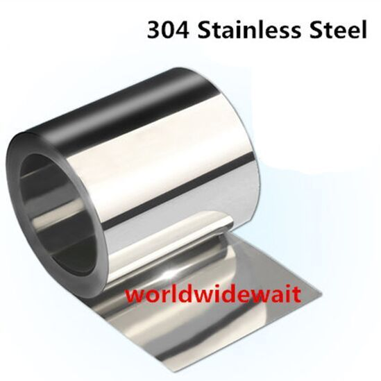 1pc Stainless Steel S304 Thin Plate Sheet Foil 0.05mm - 0.25mm X 100mm X 1000mm