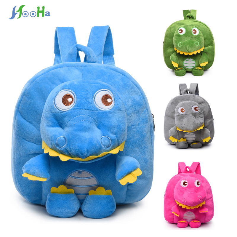 Plush Backpacks Cartoon Dinosaur Plush Sac A Dos Enfant Kindergarten Backpack For Gifts Soft Bag For Children Kids Girls Рюкзак