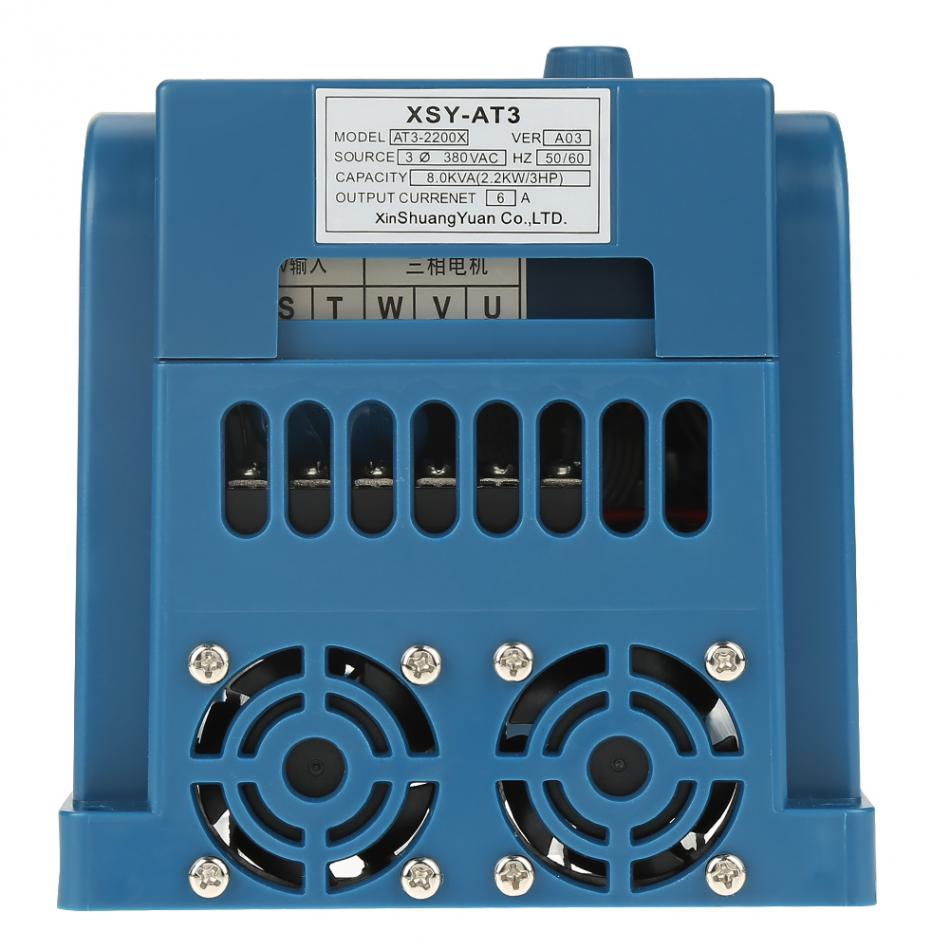 AC 380V 2.2KW Frequency Inverter 6A Variable Speed Motor Drive ...