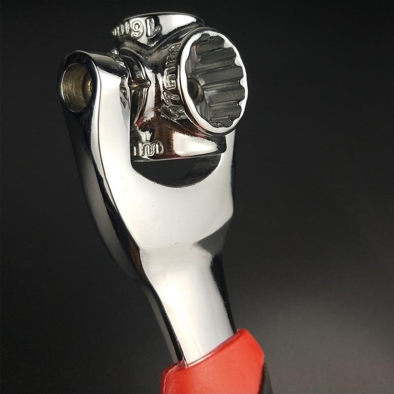 Купить с кэшбэком 48-in-1 Tiger Wrench Hand Tools Socket Works with Spline Bolts Torx 360 Degree 6-Point Universial Furniture Car Repair Spanner