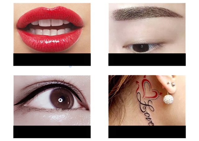 Genuine Permanent Makeup Tattoo Eyeliner Eyebrows Lips Machine Body Art Eyebrow Eyeline Lip Liner Microblading derma Tools Pen