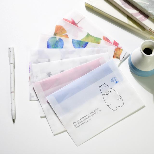 Lovely Fallen Leaves Patterned Paper Envelopes 8 pcs Set