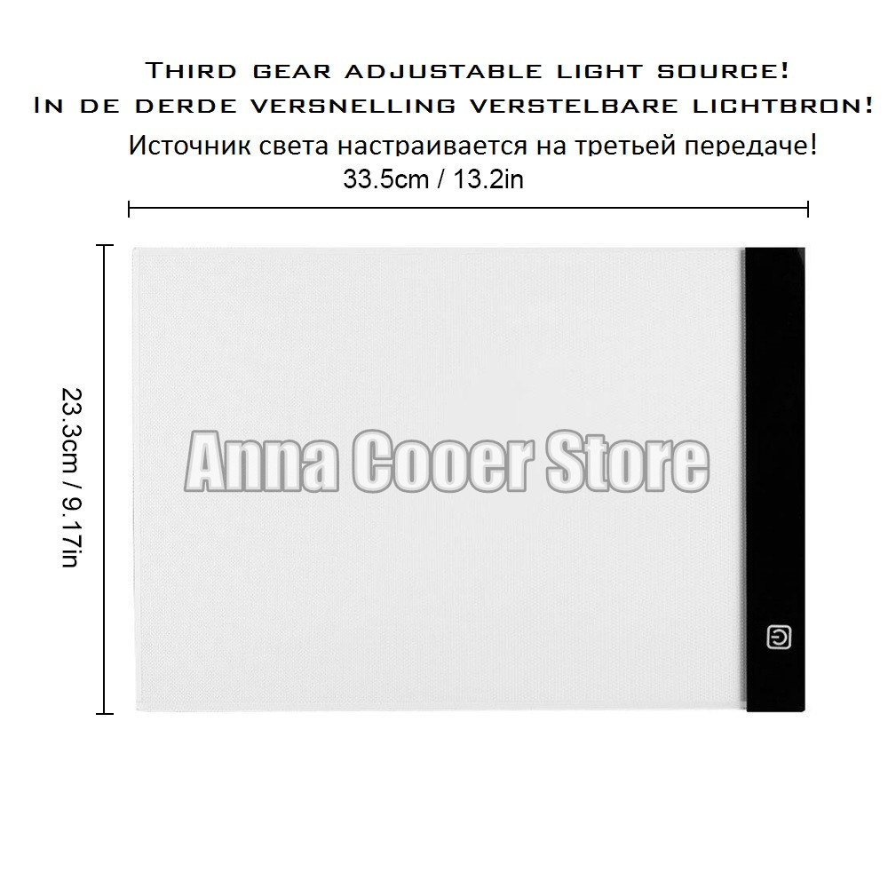 Digital Tablet 13.15x9.13inch A4 LED Artist Thin Art Stencil Drawing Board Light Box Tracing Table Pad Diamond Painting Tools