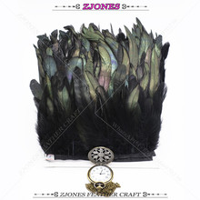 1-2 Meter 5-6 Black Rooster Feather trim Chicken feather ribbon Fringe Dress/Skirt/Craft Feather Party Decorative Boas Strip цена