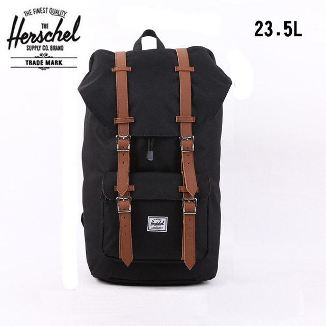 Herschel Bag Brand Black Heritage Travel 23.5L Bolsas Mochila Masculina  Classic Laptop Vintage Men Backpack Luggage Herschel Bag