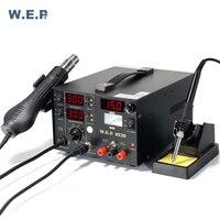 WEP 853D (1A) паяльная станция с электропитанием постоянного тока 3 в 1 сварочное оборудование