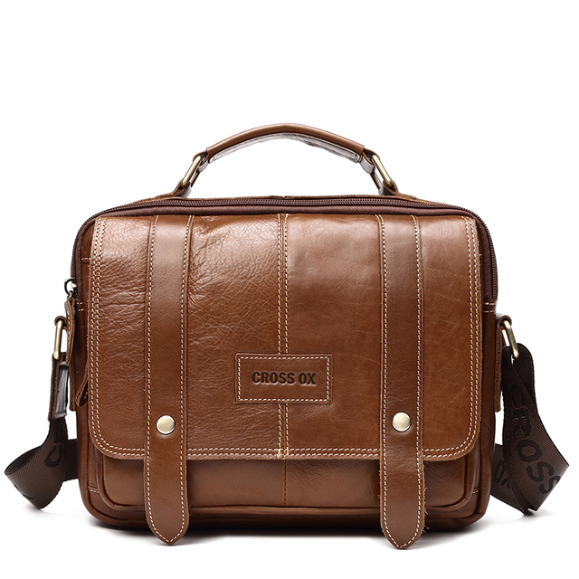 CROSS OX Genuine Leather Shoulder Bag