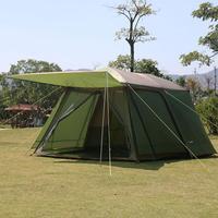 5 8 человек наружная туристическая палатка водостойкая ветрозащитная двухслойная большая походная семейная туристическая палатка наружно