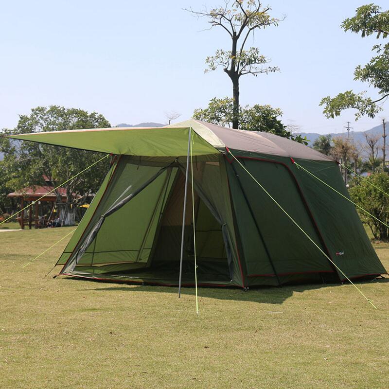 5-8 personne Tente de Plein Air Tente Imperméable Coupe-Vent Double Couche Grand Camping Voyage en Famille Tentes En Plein Air Matériel de Camping