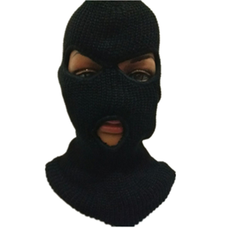 Super hero Black Mask Breathable Fabric Full Face Mask Halloween Cosplay Gangsters Ninja Killer Keep Warm Beanie Hat knitted Cap halloween skeleton style cosplay costume face mask gloves set black white