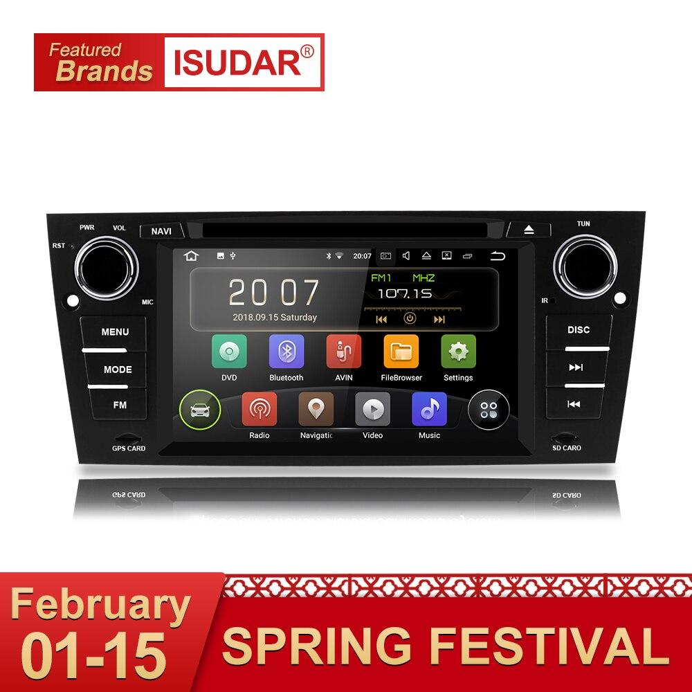 Isudar Car Multimedia Player GPS Android 8.1.1 1 Din DVD Automotivo Per BMW/3 Serie E90/E91/ e92/E93 2 GB di RAM Radio FM Wifi DSP