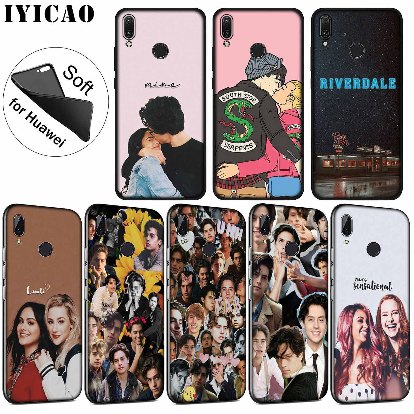 IYICAO riverdale choni Soft Silicone Phone Case for Huawei P30 P20 Pro P10 P9 P8 Lite Mini 2017 2016 2015 P smart Z 2019 Cover